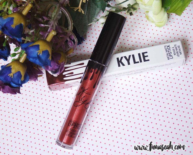 Kylie Cosmetics Metal Matte Liquid Lipstick in Reign (US$18)