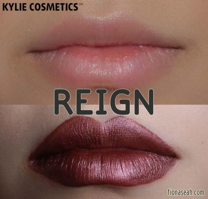 Kylie Cosmetics Metal Matte Liquid Lipstick in Reign