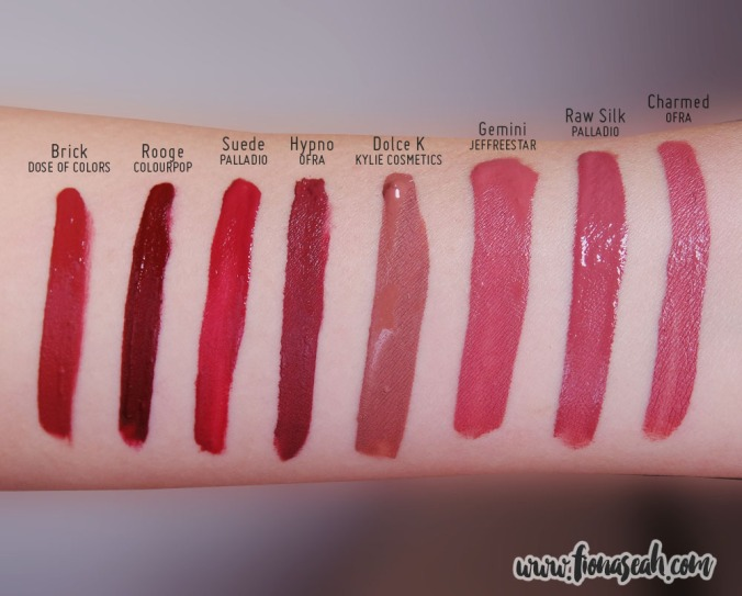 Swatch comparison for Raw Silk and Suede