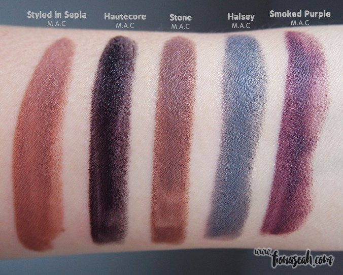 M.A.C Fashion Forward x Halsey swatch comparison