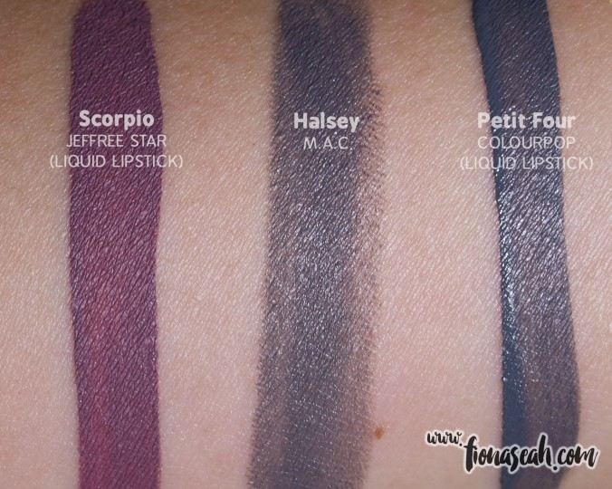 *UPDATED* M.A.C Halsey swatch comparison with other similar-looking liquid lipstick shades, as requested by a reader. This is under artificial lighting.
