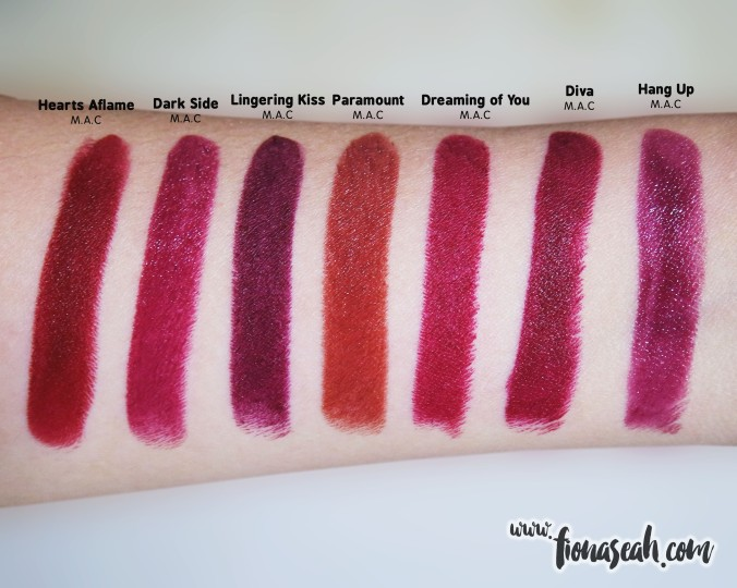 M.A.C Selena Dreaming of You swatch comparison