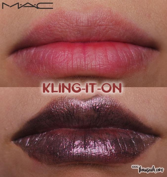 M.A.C X Star Trek lipstick in Kling-It-On