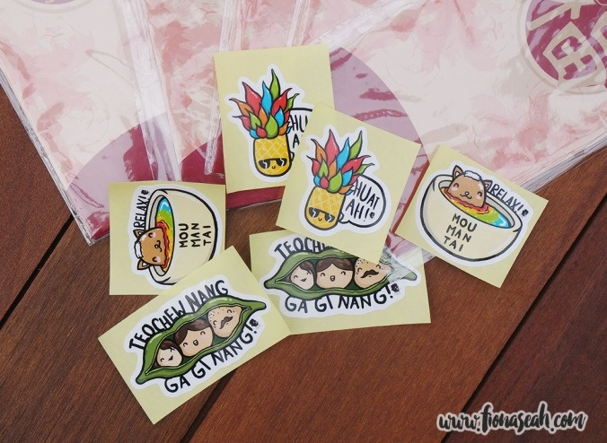 Our cute lil' dialect stickers, illustrated by our designer Vanessa!