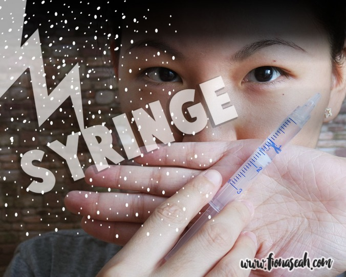 Step 3: Apply peroxide-free whitening gel with the given syringe
