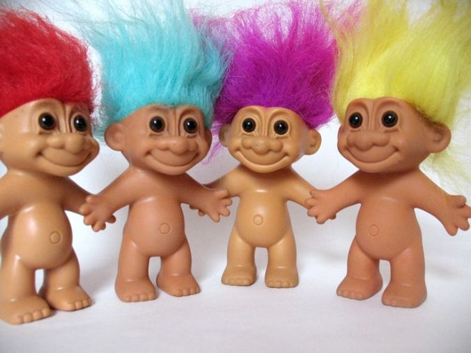 The original scary shizzle original Troll dolls