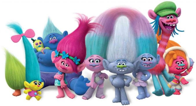 Trolls in 2016 - they had a makeover and now look less scary thank God