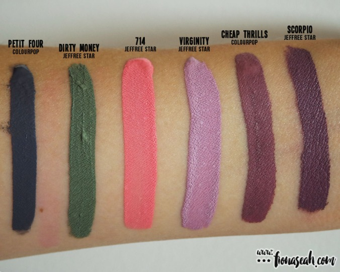 Jeffree Star Virginity swatch comparison