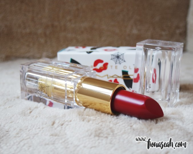 M.A.C X Charlotte Olympia lipstick in Leading Lady Red (US$18)