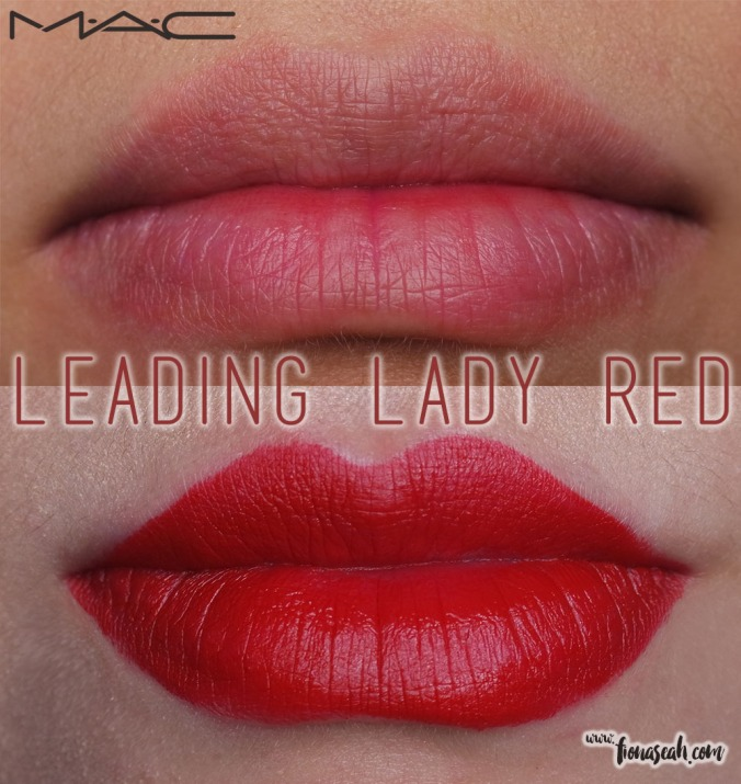 M.A.C X Charlotte Olympia lipstick in Leading Lady Red