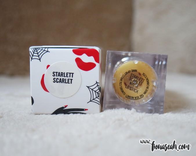 M.A.C X Charlotte Olympia lipstick in Starlett Scarlet