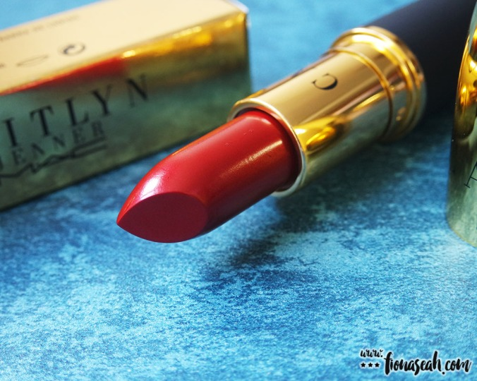 M.A.C X Caitlyn Jenner lipstick in Authentic Red (US$17)