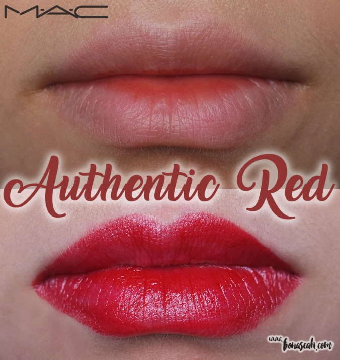 M.A.C X Caitlyn Jenner lipstick in Authentic Red