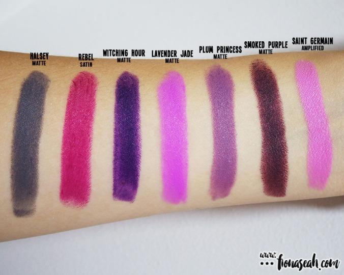 M.A.C X Chris Chang Plum Princess lipstick swatch comparison