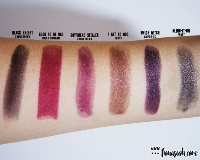 M.A.C X Mariah Carey I Get So OOC lipstick swatch comparison
