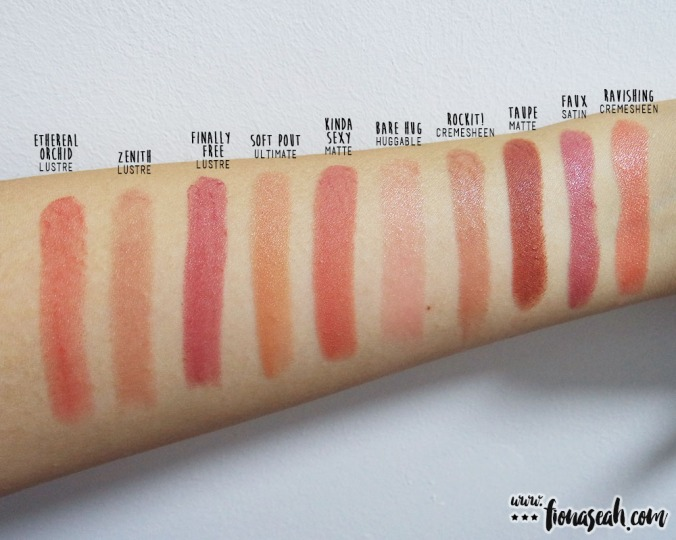 M.A.C Rockit! swatch comparison