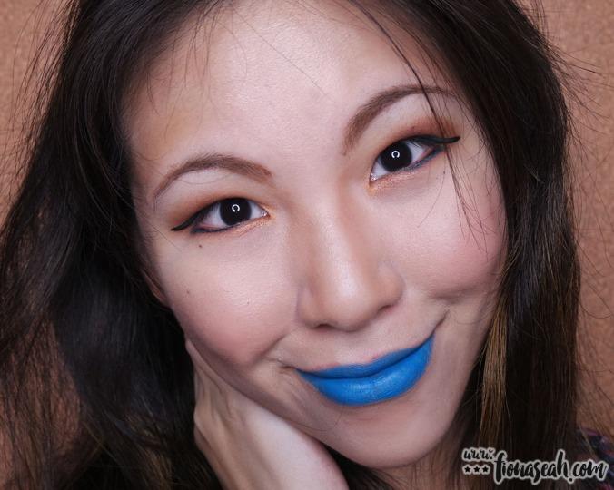 M.A.C Colour Rocker lipstick in Blue Bang!
