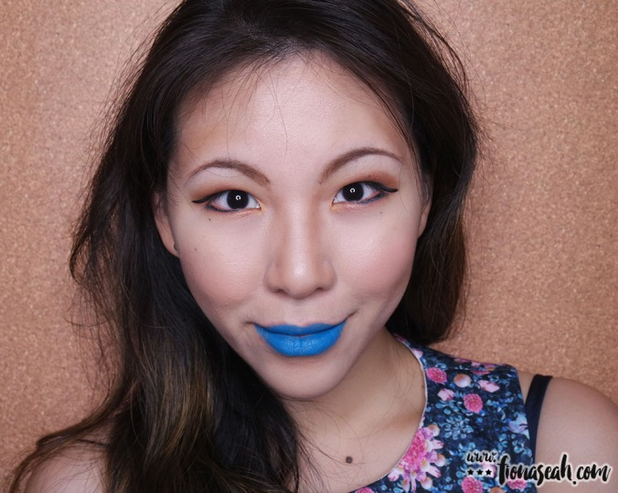 M.A.C Colour Rocker lipstick in Blue Bang!