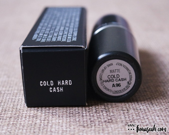 M.A.C Colour Rocker lipstick in Cold Hard Cash
