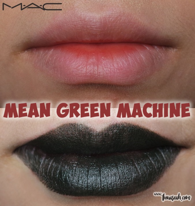 M.A.C Colour Rocker lipstick in Mean Green Machine