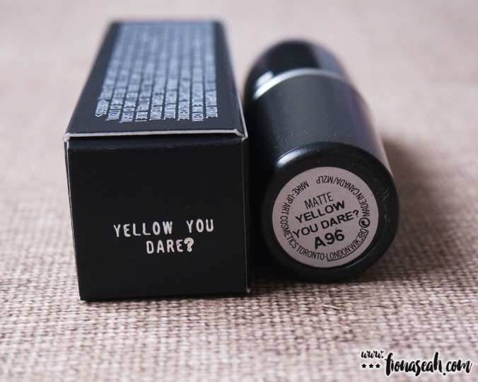 M.A.C Colour Rocker lipstick in Yellow You Dare?