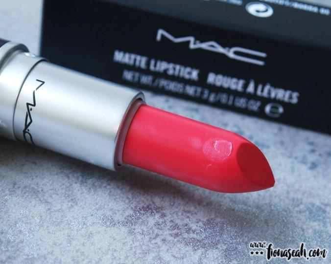 M.A.C Blue Nectar lipstick in Ablaze (US$17)