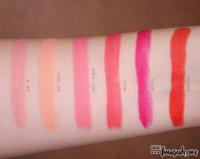Overall swatches