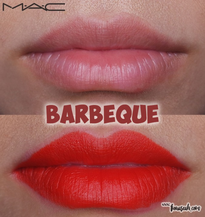 M.A.C Blue Nectar lipstick in Barbeque