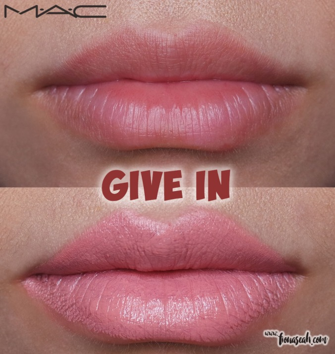 M.A.C Blue Nectar lipstick in Give In
