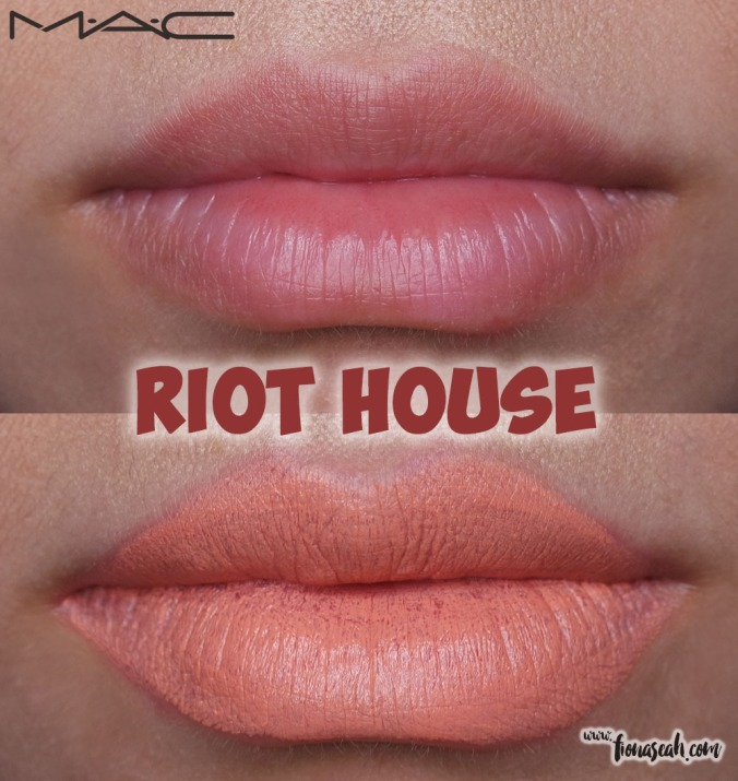 M.A.C Blue Nectar lipstick in Riot House