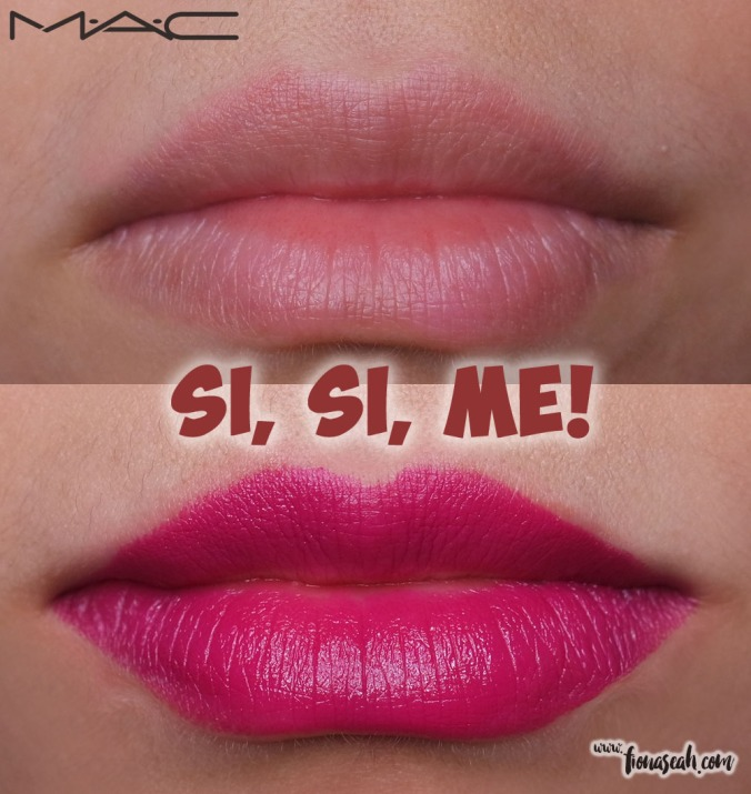 M.A.C Fruity Juicy Lipstick in Sí, Sí, Me! (US$17 / S$36)