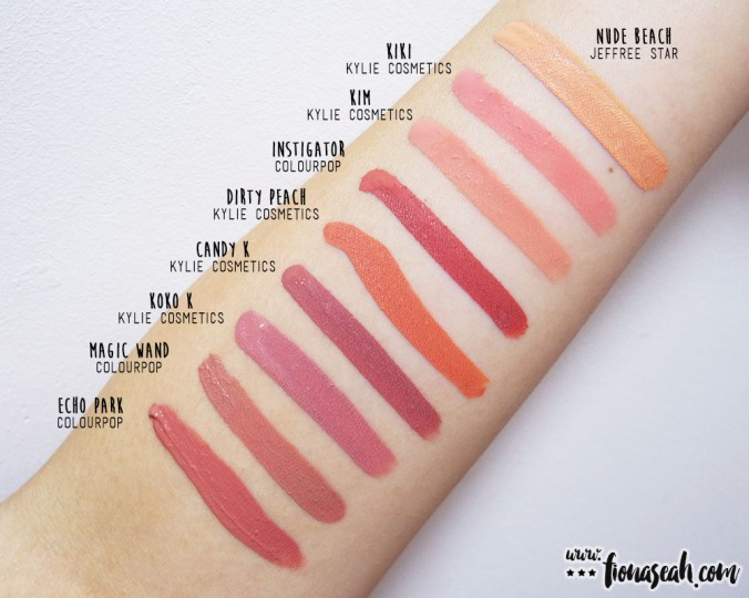 KKW X Kylie Créme Liquid Lipsticks - Kiki & Kim swatch comparisons