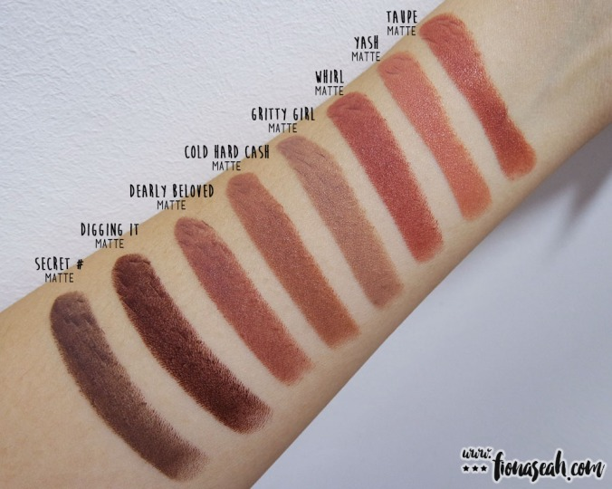 M·A·C Kiesza Lipstick in Dearly Beloved swatch comparison - Cold Hard Cash is the closest dupe but has warmer undertones