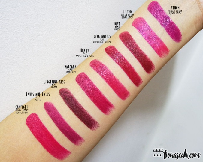 Swatch comparison for Marsala: Heaux is close but is lighter and warmer. Diva Antics is darker and cooler