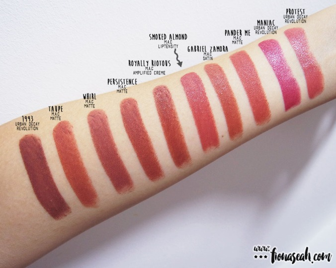Swatch comparison for Smoked Almond: Pander Me is close but has more yellow undertones