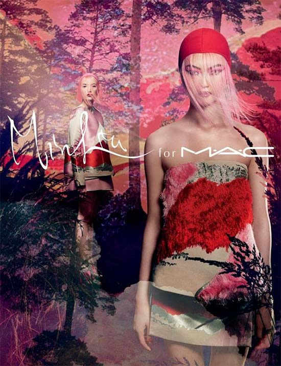 M.A.C X Min Liu Collection (Can we also take a moment to appreciate the beauty of those dresses in the promo picture?)