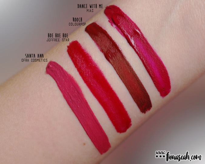 M·A·C Retro Matte Liquid Lipcolour in Dance With Me - swatch comparison