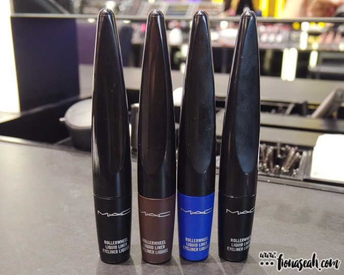 The Rollerwheel Liquid Liner is available in 4 shades: Rollin' Black Shine [Shiny Black], Rollerwheel Brown [Warm Brown], Roller Royale [Royal Blue] & On A Roll Black [Matte Black]