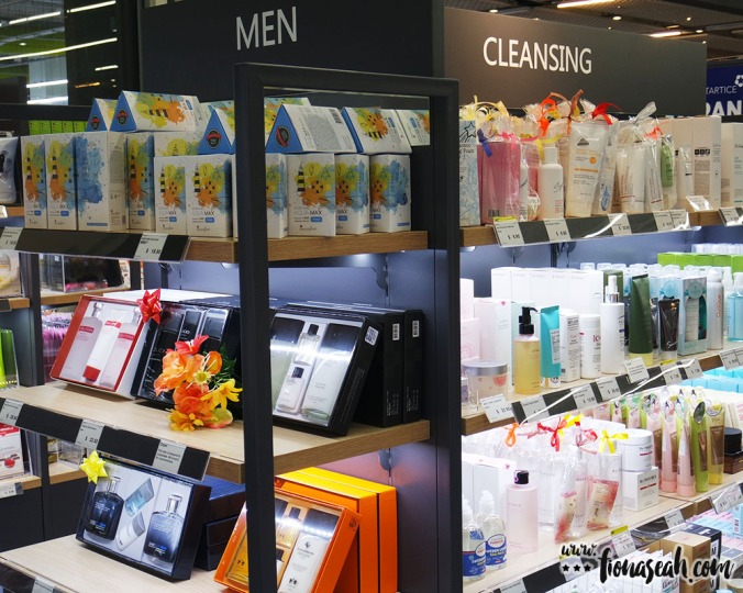 There's something for everyone - even the men get a beauty section dedicated just for them!