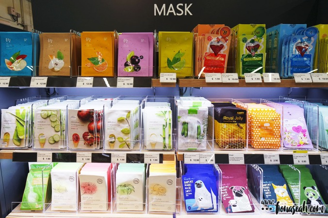 Of course, how can there NOT be face masks? South Korea is well-known for their face masks!