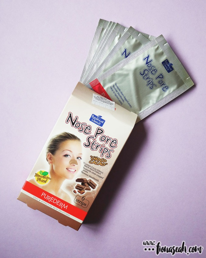 These Choco Cacao Nose Pore Strips made me craved for chocolates every time I use it. The chocolatey smell is really no joke!