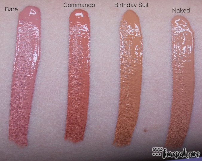 All the names of the liquid lipsticks are synonymous with 'nude'