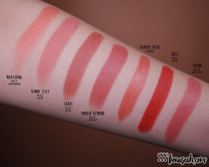 LORAC Cosmetics × Disney Beauty and the Beast Lipstick Collection - Savoir Faire - swatch comparison