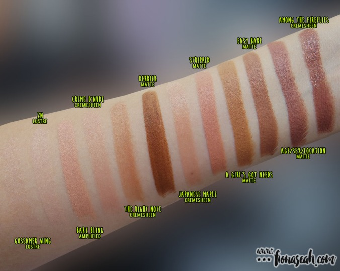 M∙A∙C × Nicki Minaj - Lipstick swatches