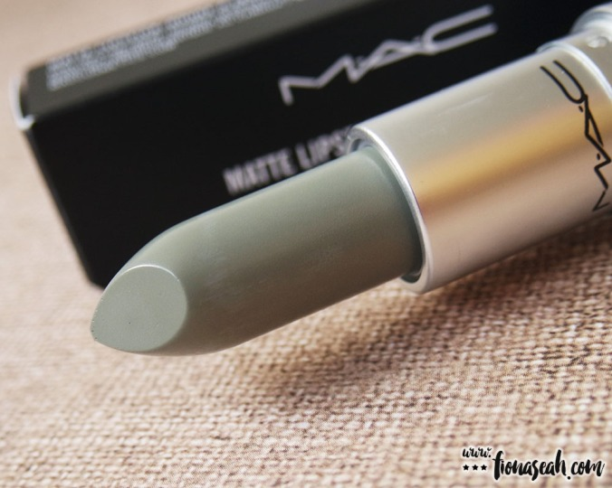 M·A·C Colour Rocker lipstick in Night Mint (US$17 / S$33)