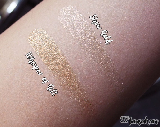 M·A·C Snow Ball Extra Dimension Skinfinish in Face Bag - all swatches (US$49.50 / S$90 each)