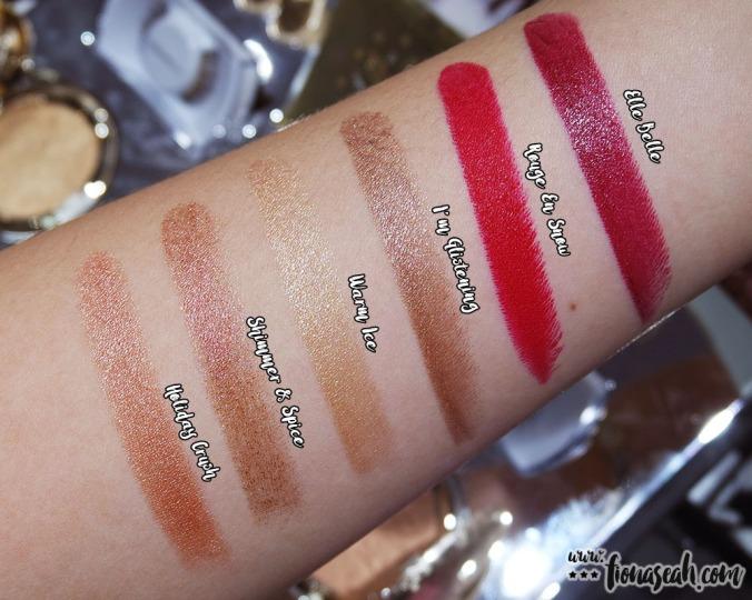 M·A·C Snow Ball lipsticks - all swatches (US$17.50 / S$33 each)