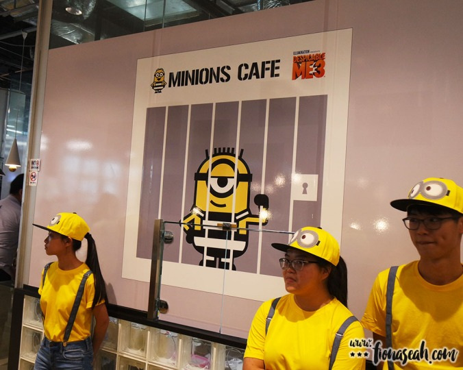 Waitstaff are donned in Minion-inspired attire so it's very easy to identify them!
