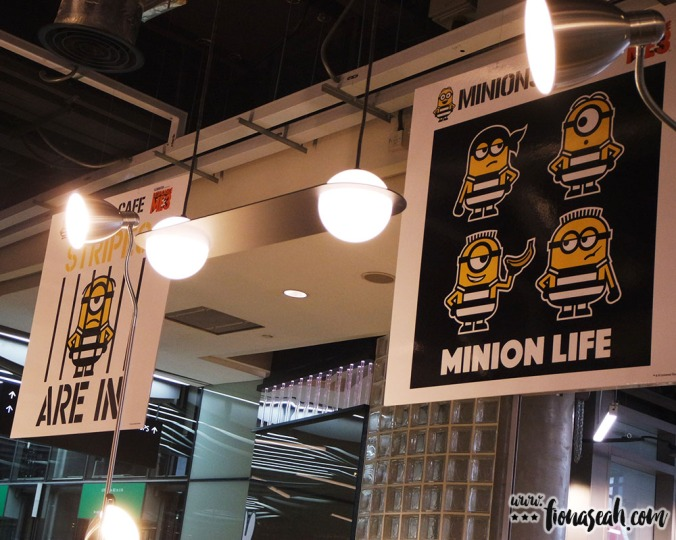 More Minions posters hanging from the ceiling. Sadly, these are not for sale at the merch corner