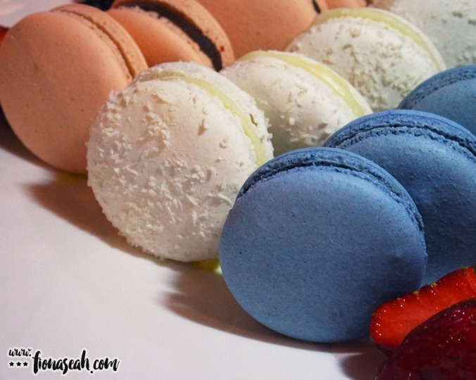 Macarons (Gingerbread Spices / Coconut / Blueberry + Salted Caramel) - 6 pcs/pack at S$16+ or 10 pcs/pack at S$25+